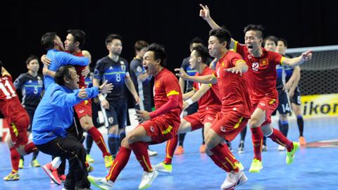 ĐT futsal Việt Nam hưng phấn sau khi bốc thăm
